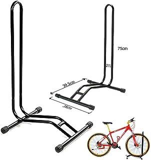Wss - Negro Soporte Biciletas Piso Deporte Ciclismo Bicicleta Individual Piso Aparcamiento Repisa Almacenamiento Garaje Soporte para Sostener