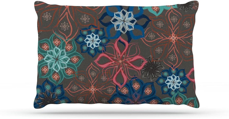 Kess InHouse Jolene Heckman Floral Charm  bluee Flowers Dog Bed