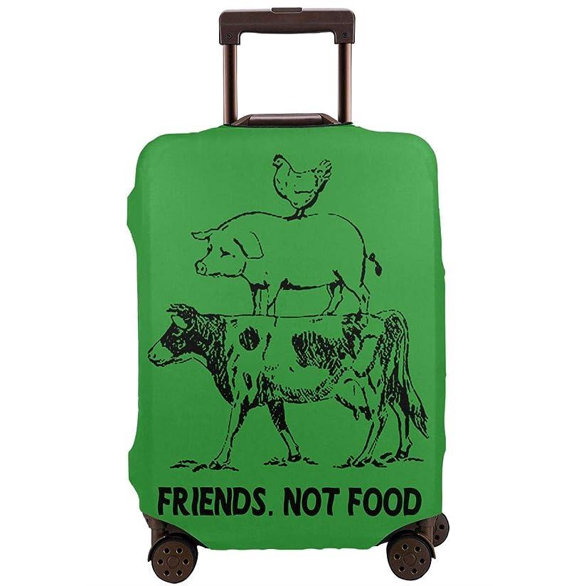 雇用不均一丈夫Hanawujinha キャリーバッグカバー スーツケースカバー お荷物カバー 牛 豚 鶏 友 食べ物 伸縮素材 国内旅行 海外旅行 おしゃれ 着脱やすい 防塵 防水 防汚れ 傷付き防止 防盗 洗える