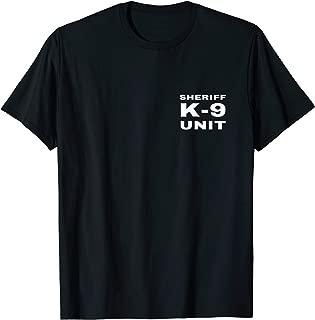 Sheriff K-9 Unit Small White Text K9 Police Dog Handler Gift T-Shirt