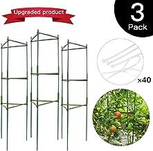 IPSXP Vegetable Trellis, Garden Plant Support Stakes for Climbing Plants, Vegetables, Flowers, Fruits, Vine, 3 Garden Trellis with 40 Adjustable Cable Tie