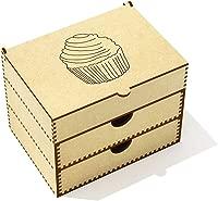 Azeeda 'Cupcake' Vanity Case / Makeup Box (VC00020467)