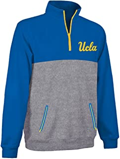 Elite Fan Shop NCAA Mens Poly Quarter Zip Sweatshirt