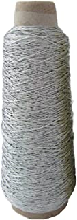 1 Spool Elastic Cord 1mm Eco-Friendly Rubber Elastic Cord Gold Silver Stretch Elastic Bands Rope Beading Cord Jewelry Bracelets Strings Garment Tag (Silver)