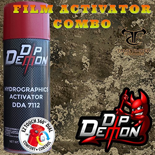 Combo Kit True Timber Strata Combat Camo Hydrographic Water Transfer Film Activator Combo Kit Hydro Dipping Dip Demon