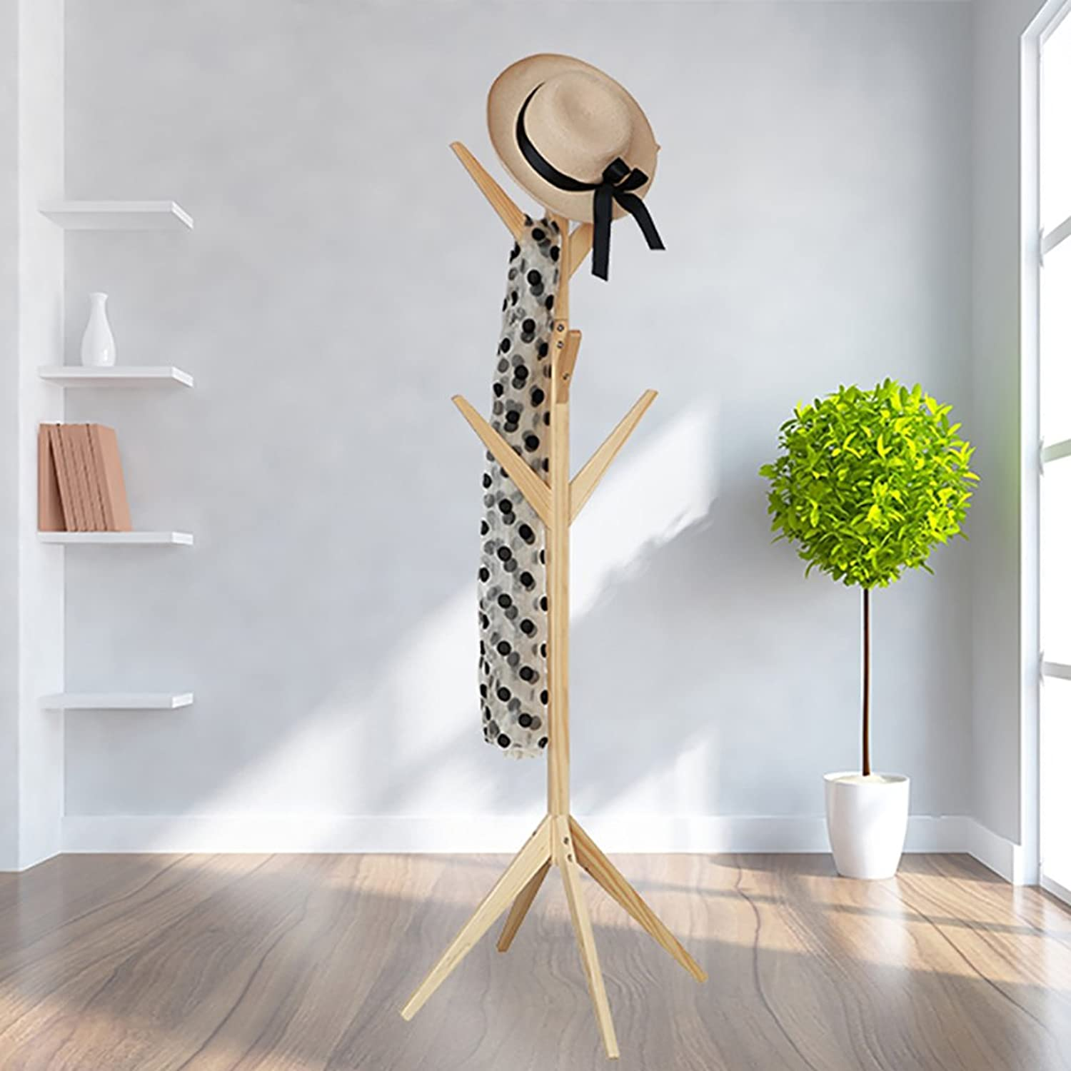July Coat Rack Simple Solid Wood Fall Coat Rack Living Room Bedroom Hanging Hanger Modern Creative Home Clothing Shelf