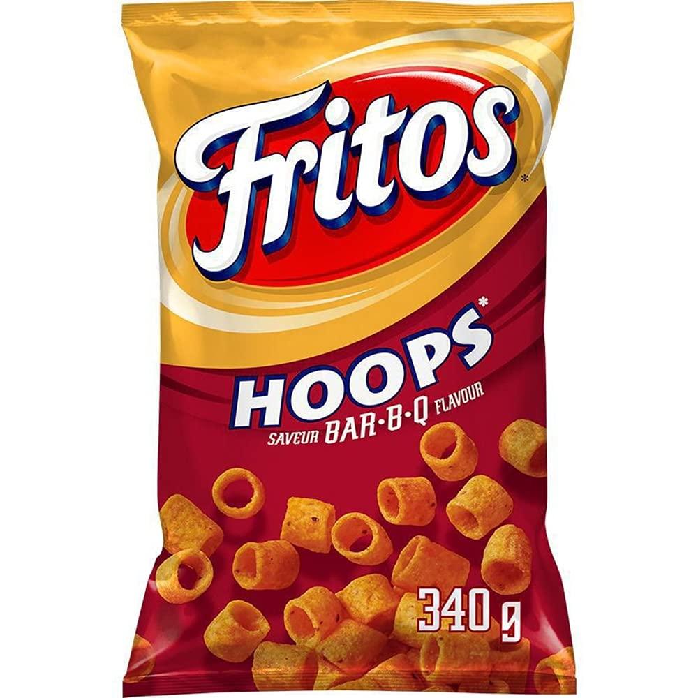 Fritos Hoops BAR-B-Q Corn Chips 340g 12 fro Max 72% OFF {Imported Bag oz. Virginia Beach Mall