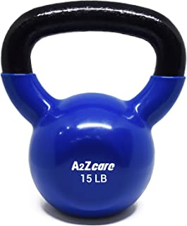 A2ZCARE Vinyl Coated Kettlebells for Cross Training, Swings, Body Workout and Muscle Exercise