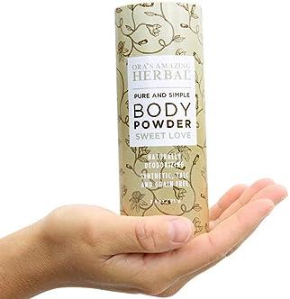 Natural Body Powder, Dusting Powder, No Talc, Corn, Grain, Gluten, Sweet Love Scent with Real Vanilla Frankincense an...