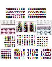 AIEX Zelfklevende strassstickers, kristaldelsteenstickers, gesorteerd kleuren en vormen