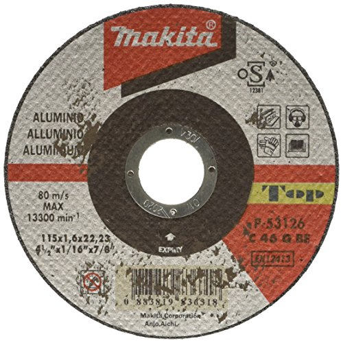 Makita P-53126 Extra-Disco Per Taglio, In Alluminio, 115 X 1,6 X 22,23 Mm