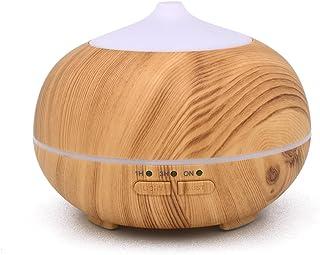 Mini 150 ML Aroma Diffuser ätherisches Öl Luftbefeuchter Wood Grain Finish Diffusor mit 7 Farb-LED hellem Holz Korn