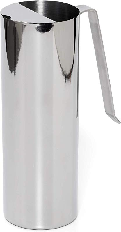 Bezrat Stainless Steel Water Pitcher Carafe With Ice Guard 68 Ounce