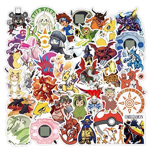 WOCAO Pegatinas de Maleta de bebé Pegatinas de Anime de Dibujos Animados para Ordenador portátil Caja de la Carretilla Pegatinas a Prueba de Agua Set 50 Hojas