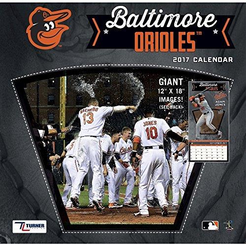 "Turner Licensing Sport 2017 Baltimore Orioles Team Wall Calendar, 12""X12"" (17998011842)"