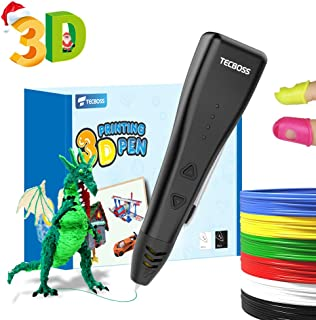 TECBOSS 3D Pen Kit, 3D Printing Drawing Arts and Crafts Supplies, Fun STEM Toys Educational Set, Best Birthday Gifts for Kids Boys Girls 5+ year old