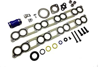 Galaxy Auto Intake Manifold Gasket Set with EGR Cooler & Turbo Installation Gasket Kit Compatible with 2003-2007 Ford 6.0L Powerstroke Diesel