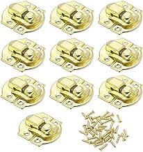 ZiYangEU 10 STKS Antieke Lock Houten Sieraden Doos Decoratieve Hangslot 20x21mm Metalen Hasps Klink met Schroef Vintage Me...
