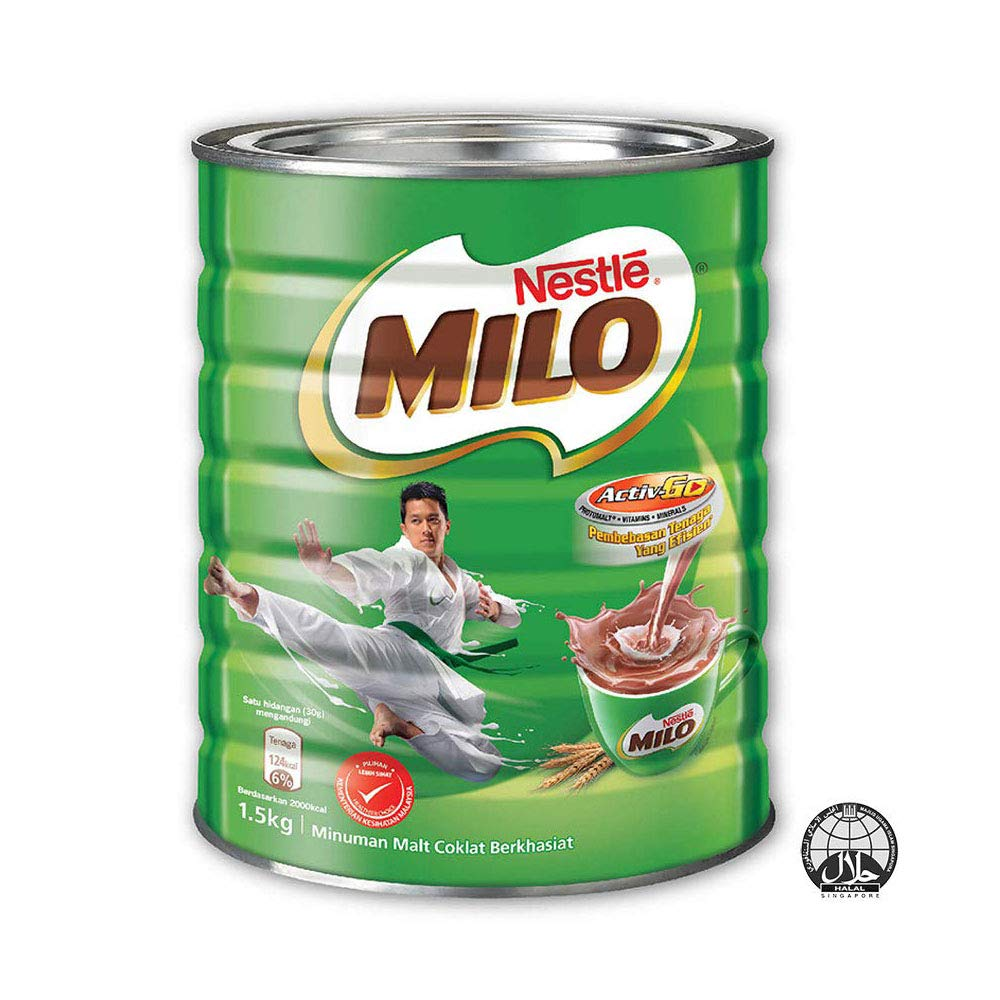 Nestle Milo Malaysia 3.3 Pound (1.5kg) Halal Beverage Mix Chocolate Malt Powder Tin Can Fortified Powder Energy Drink Cocoa