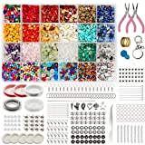 Gocelyn Crystal Irregular Chip Beads con piedras espaciadoras, hacer joyas piedras preciosas alicates pinzas gancho para oreja colgantes de...