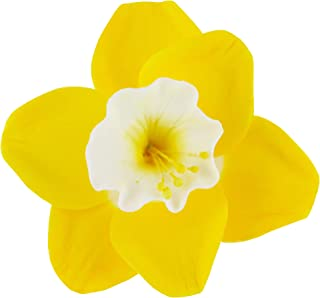 Global Sugar Art Daffodil Sugar Cake Flowers Yellow/White Throat, 36 Count by Chef Alan Tetreault