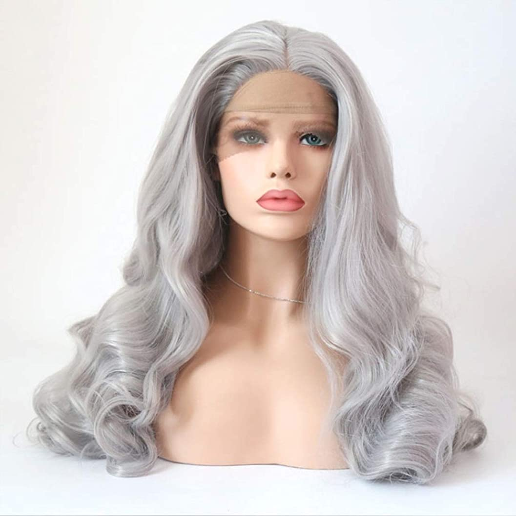 読む石油パラメータSummerys 女性のための長い巻き毛のかつら合成パーティーかつら耐熱繊維かつらとフルウィッグ