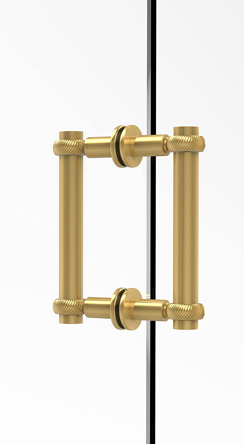 Allied Brass 404T-6BB-PB Contemporary 6  Back to Back Shower Door Pull with Twisted Accent,