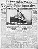 Posterazzi Newspaper The Times Despatch 16 April 1912 Titanic sinks after collision Poster Print, (8 x 10)