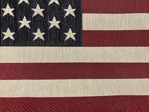 USA America Stars and Stripes Vlag Retro Linnen Kijk Zware Jacquard Gobelin Bekleding Katoenen Tas Kussen Paneel Stof - 23'' x 14'' (verkocht door het paneel)