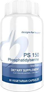 Designs for Health PS 150 Phosphatidylserine Capsules - 150mg Soy-Free Phosphatidylserine for Brain + Cortisol Balance Support (60 Capsules)