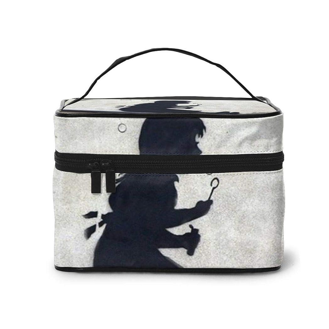 ベックス通行料金あいまいさメイクポーチ 化粧ポーチ コスメバッグ バニティケース トラベルポーチ Banksy バンクシー 雑貨 小物入れ 出張用 超軽量 機能的 大容量 収納ボックス