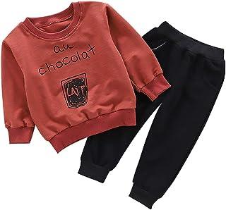 ALLAIBB Niños de niño pequeño Sudadera Jersey Pantalones Otoño Primavera Ropa Deportiva 1-4años