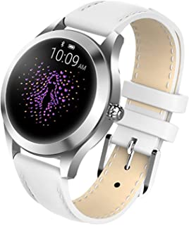 Smart Watch KW10, Round Touch Screen IP68 Waterproof Smartwatch for Women, Fitness Tracker with Heart Rate and Sleep Pedom...