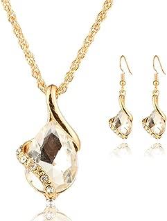Deals Necklace+Earrings Jewelry Set Womens Bohemia Chain Necklace Earrings Jewelry by ZYooh