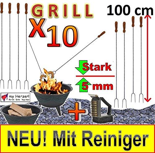 10 lange Grillspieße REINIGER