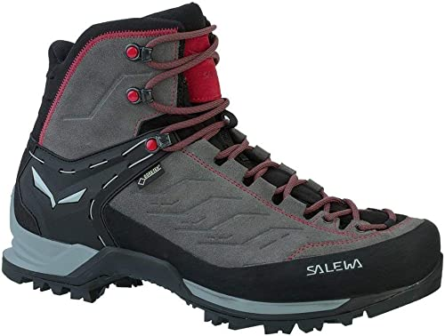 SALEWA - Mountain Trainer Mid GTX (Halbhoher Bergschuh hombres), Groesse 8.5 (42.5), Color-Salewa Charcoal Papavero
