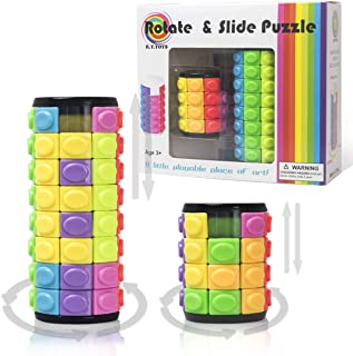 GDAY Cylinder Puzzle Magic Cubes 4×4 Speed Cube 3D Puzzles IQ Education Puzzle Toys for Toddlers and Adults(4 Layers + 8 Layers) …