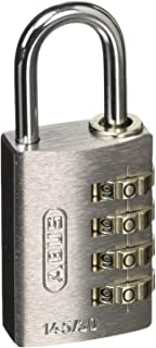 ABUS ナンバー可変式4段ダイヤル南京錠 145-4d 30 SI 145-4D30SI 南京錠