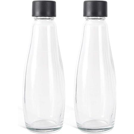 Levivo Bouteilles en Verre pour Machines à eau Pétillante et JUS, de Rechange ou en Supplément, Volume 0.6l, Sert de Carafe, plus écologique et Durable que les Bouteilles en PET, 2 Pce