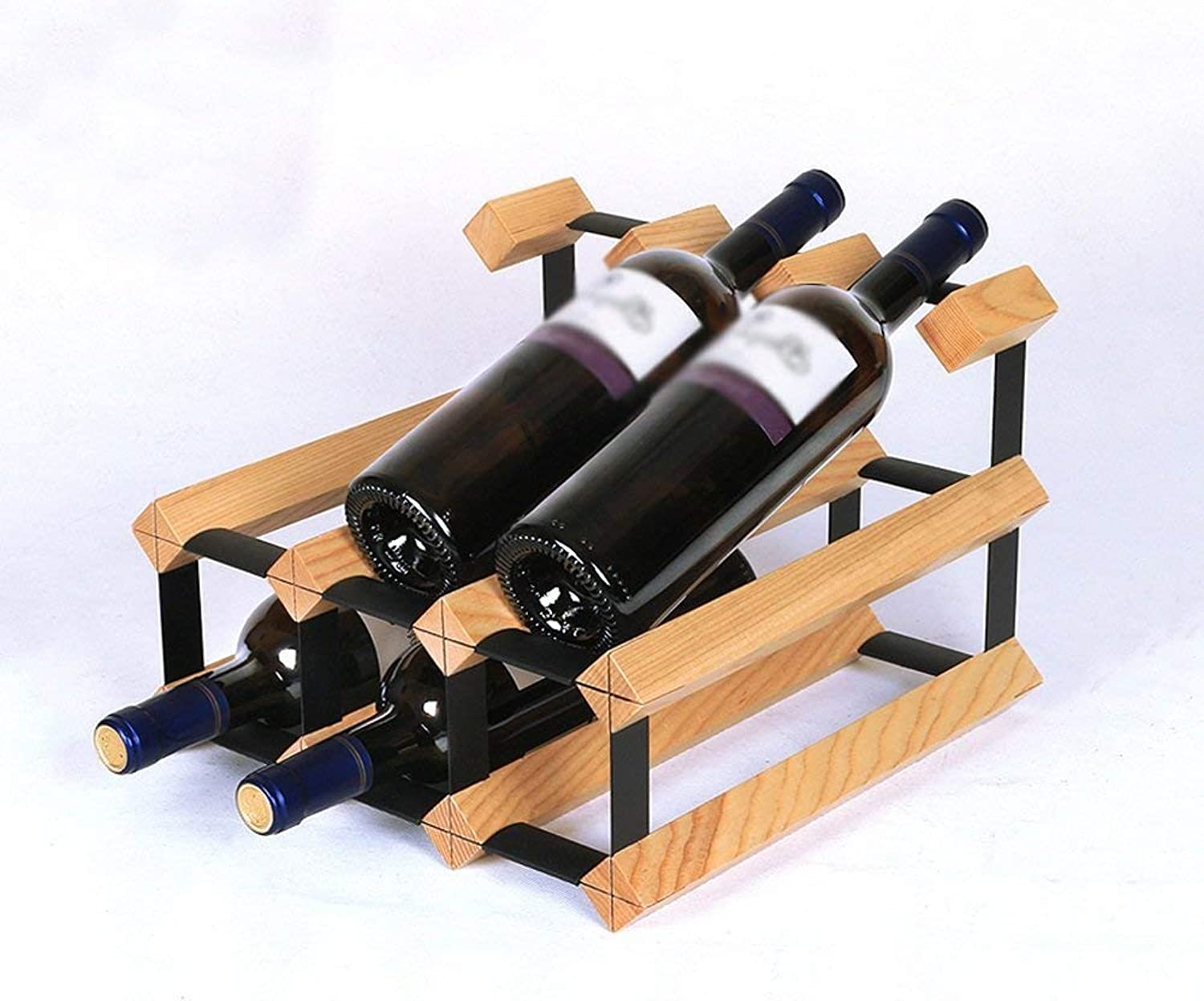 Red Wine Shelf Wine Rack Household Solid Wood Bottle Rack Creativity Simple Wine Rack Length 32×W 30×H 22.5cm Multifunction (color    2) (color    2)