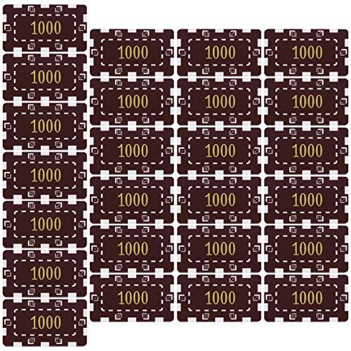 Hakka 25個のポーカーチップ小さなプラスチックの学習カウンターディスク1000ビンゴチップカウントディスクマーカー数学の練習とポーカーチップゲームトークン