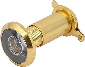 Aexit Visores de porta de ângulo amplo de 13,3 mm de diâmetro 180 graus Olho mágico em tom dourado
