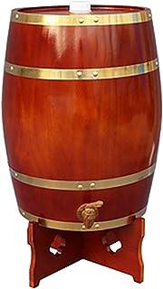 ZGQJT Barrel vin 5L en Bois Wine Rack, Tonneau Vin Vintage Distributeur de bière vin et spiritueux de Stockage, Convient f...