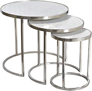 EMOH - Set DE 3 Tables GIGOGNE MARBRE ET Metal