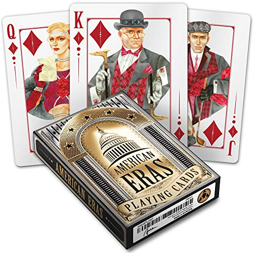 Playing Cards American Eras - Cool Poker Size Black Deck with 52 Unique Art Cards Designed by ArtLibra