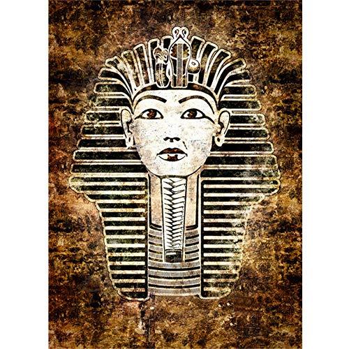 Jigsaw Puzzle 1000 Piezas, Retrato del faraón egipcio Creativo Puzzle Adolescentes Puzzle Rompecabezas para Infantiles, Descompresión Divertido Juego Familiar, Decoración para El Hogar Regalos 26X3
