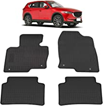All Weather Protection TeddyTT Floor Liner Mats Compatible with Mazda CX-5 CX5 2020 2019 2018 2017 Heavy Duty Rubber and Odorless Front Rear Seat Floor Mats Custom fit 4PCS
