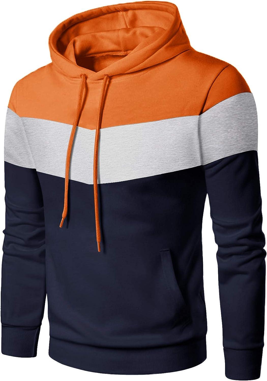 Max 83% OFF EKLENTSON Mens OFFicial Sweatshirt Casual Stripe Pul Hoodies Sports Color