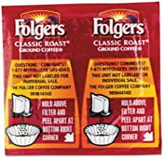 """Folgers - Coffee Classic Roast Regular 9/10Oz Vacket Pack 42/Carton \\""""Product Category: Breakroom And Janitorial/Beverages & Snack Foods\\"""""""