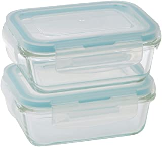 Taliona TL2213370 Boro Pro Food Container Set, Blue W 13.6 x H 11.2 x D 10.8 cm, Rectangular